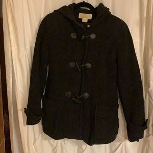 MK black wool coat size small